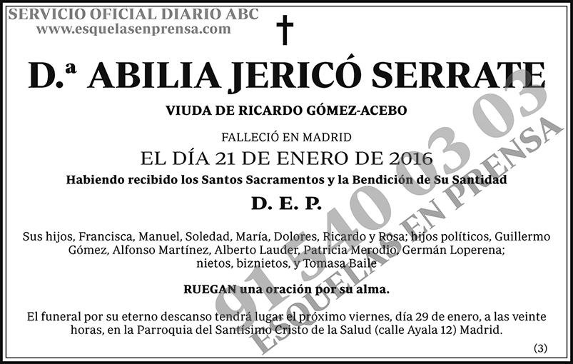 Abilia Jericó Serrate